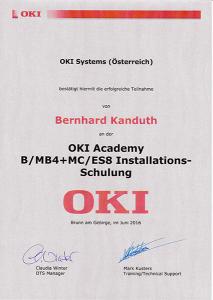 OKI Installations-Schulung