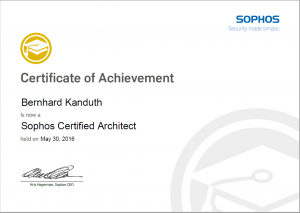 Sophos Certified Architect